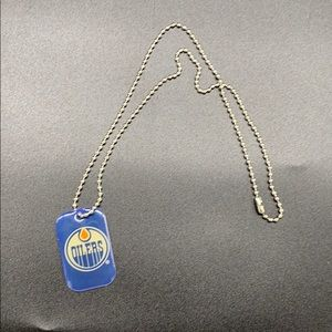 Oilers NHL dog tag